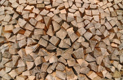 Stack of wood pieces Stock Photo