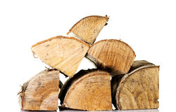 Stack of wood pieces. Royalty Free Stock Image