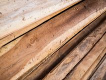 Stack of wood plank. Stack of teak wood plank background Stock Images