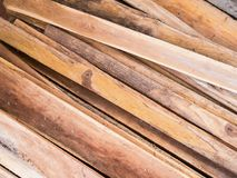 Stack of wood plank. Stack of teak wood plank background Stock Photography