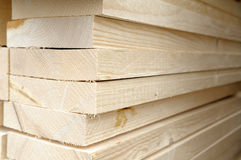 Stack of wood planks. Royalty Free Stock Photos