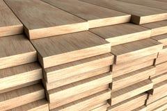 Stack of wood planks. 3d render stack planks - detail 3d render Stock Image
