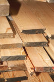 Stack of wood planks Stock Photography
