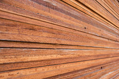 Stack of wood planks background. Stock Photo