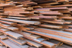 Stack of wood planks background. Royalty Free Stock Image