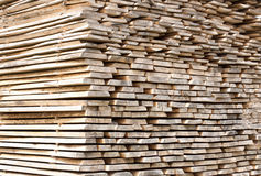 Stack of wood planks for construction buildings Royalty Free Stock Photos