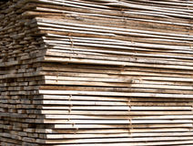 Stack of wood planks for construction buildings Royalty Free Stock Photo