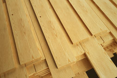 Stack of Wood Planks Stock Photo