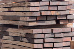 Stack of wood planks Royalty Free Stock Images