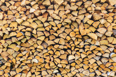 Stack of wood ready for the fireplace Stock Photography