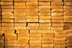 Stack of Wood Studs Royalty Free Stock Image