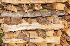 Stack wood. Viewf of a stack wood for heat saison Stock Photos