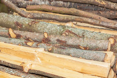 Stack wood. Viewf of a stack wood for heat saison Stock Images