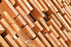Stack of wooden bars. Abstract background Royalty Free Stock Images