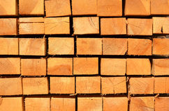 Stack of wooden bars. Background Royalty Free Stock Image