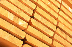 Stack of wooden bars. Background Stock Photo