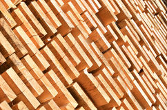 Stack of wooden bars. Background Royalty Free Stock Photo