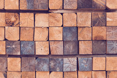 Stack of wooden bars Royalty Free Stock Images