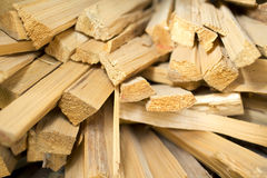 Stack of wooden bars Royalty Free Stock Photography