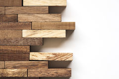 Stack of wooden bars. Stock Photos
