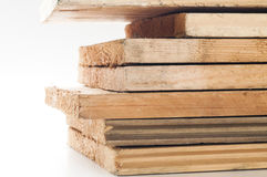 Stack of wooden bars. Stock Photography