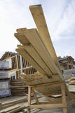 Stack Of Wooden Beams Stock Photography