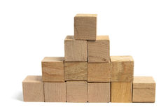 Stack of Wooden Blocks Stock Images
