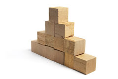 Stack of Wooden Blocks Stock Photo