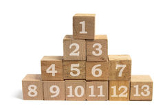 Stack of Wooden Blocks Royalty Free Stock Photography