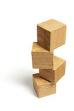 Stack of Wooden Blocks Stock Image