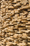 Stack of wooden boards. Royalty Free Stock Photo