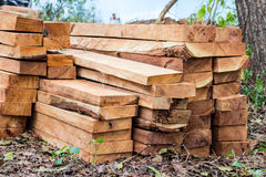 Stack of wooden boards. Stock Photography