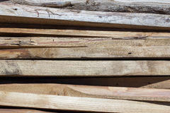 Stack of wooden boards on Background Royalty Free Stock Images