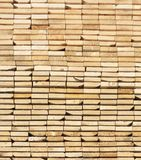 A stack  Of Wooden Boards From Ends Royalty Free Stock Photo