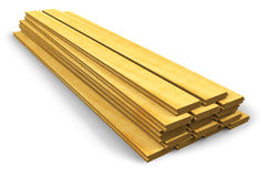 Stack of wooden construction planks stock illustration