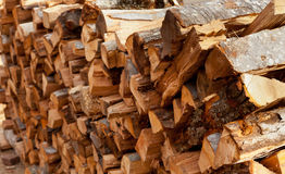 Stack of wooden logs for firewood Royalty Free Stock Photo