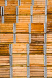 Stack of wooden packaging crates royalty free stock image