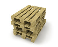 Stack of wooden pallets Royalty Free Stock Photography