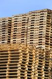 Stack of wooden pallets Stock Photography