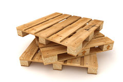 Stack of wooden pallets. Royalty Free Stock Image
