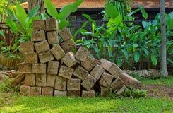 Stack of wooden pillar Stock Photo