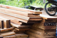 Stack of wooden plank Royalty Free Stock Images