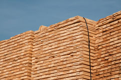Stack of wooden planks Stock Photography
