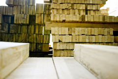 Stack of wooden planks Royalty Free Stock Photography