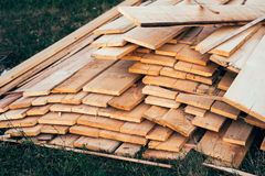 Stack of wooden planks Stock Photo