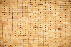 Stack wooden planks Stock Images