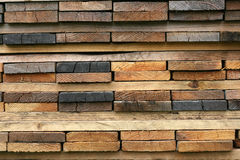 Stack of wooden planks Royalty Free Stock Images