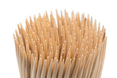 Stack of wooden toothpicks Stock Photo