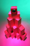 Stack of wooden toy bricks Royalty Free Stock Photo