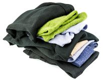 Stack of woolen clothes Royalty Free Stock Photography